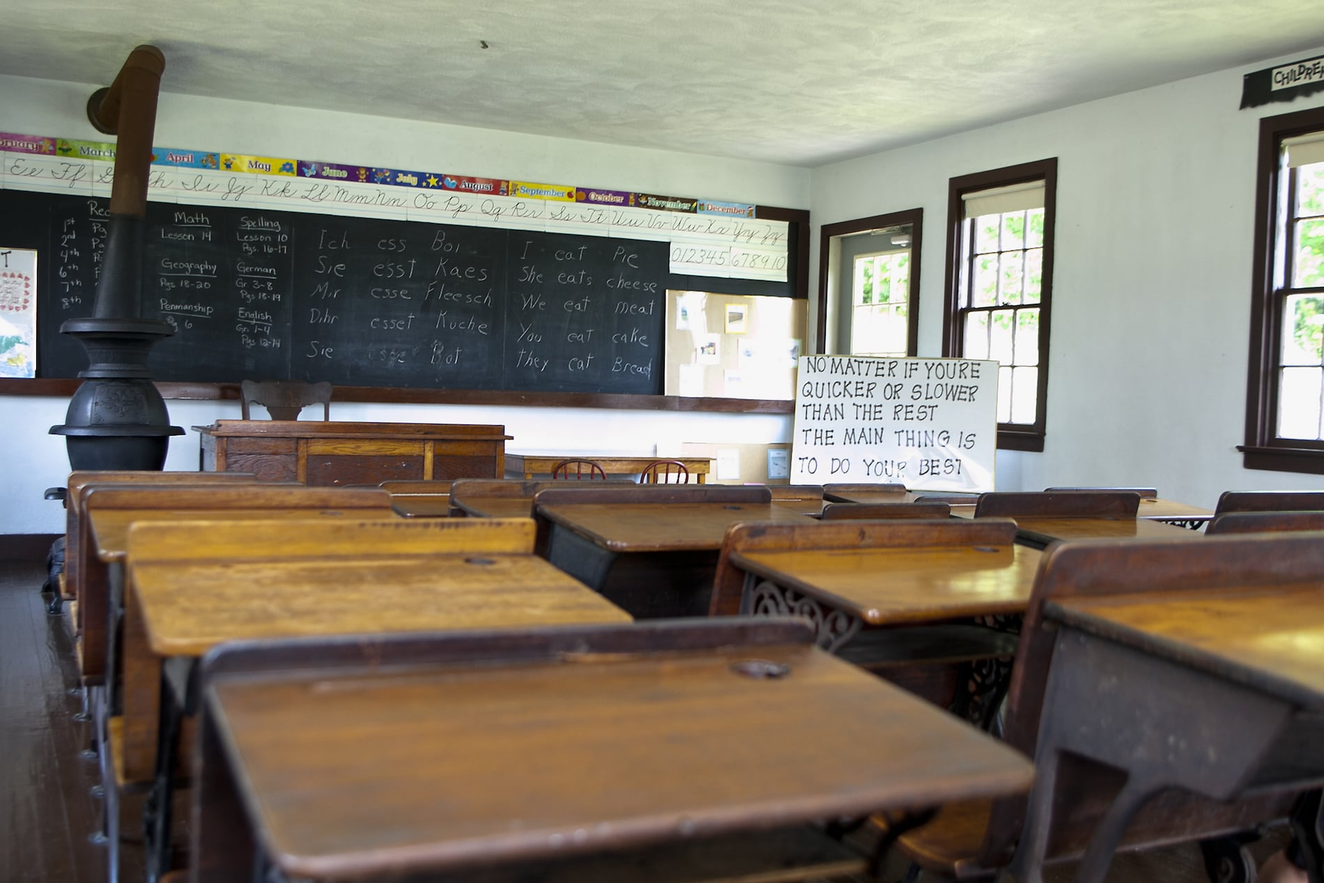 Amish Schoolhouse interior