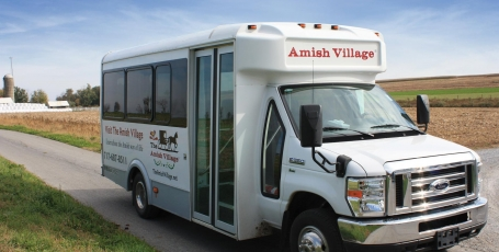 The Amish Village Tour Bus