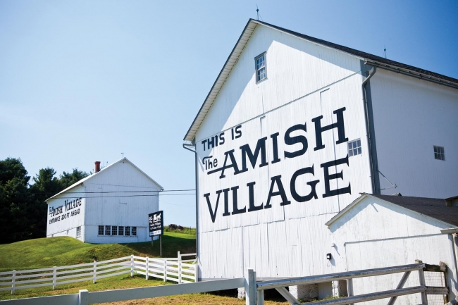 Amish Village barn and home
