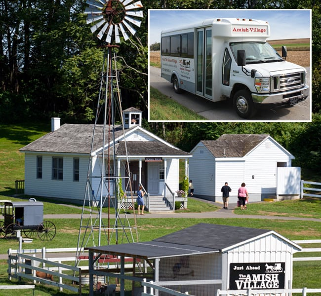 Amish Village property and bus