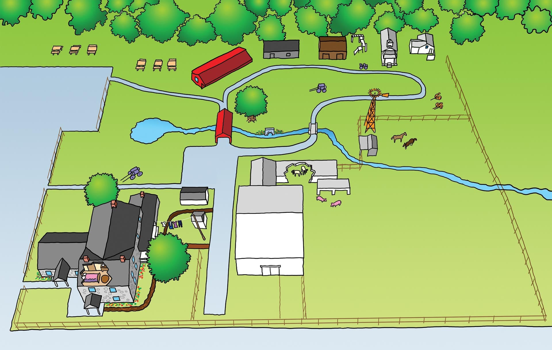 Map of The Amish Village