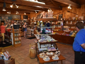 interior shot of products inside the Amish Village Market