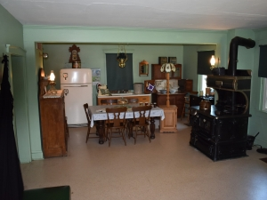 Amish Kitchen with stove and table
